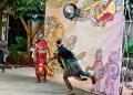 Juego de Pelota Maya celebrado en La Habana. Foto: Otmaro Rodríguez.
