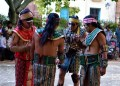 Jugadores de Pelota Maya durante un partido celebrado en La Habana. Foto: Otmaro Rodríguez.