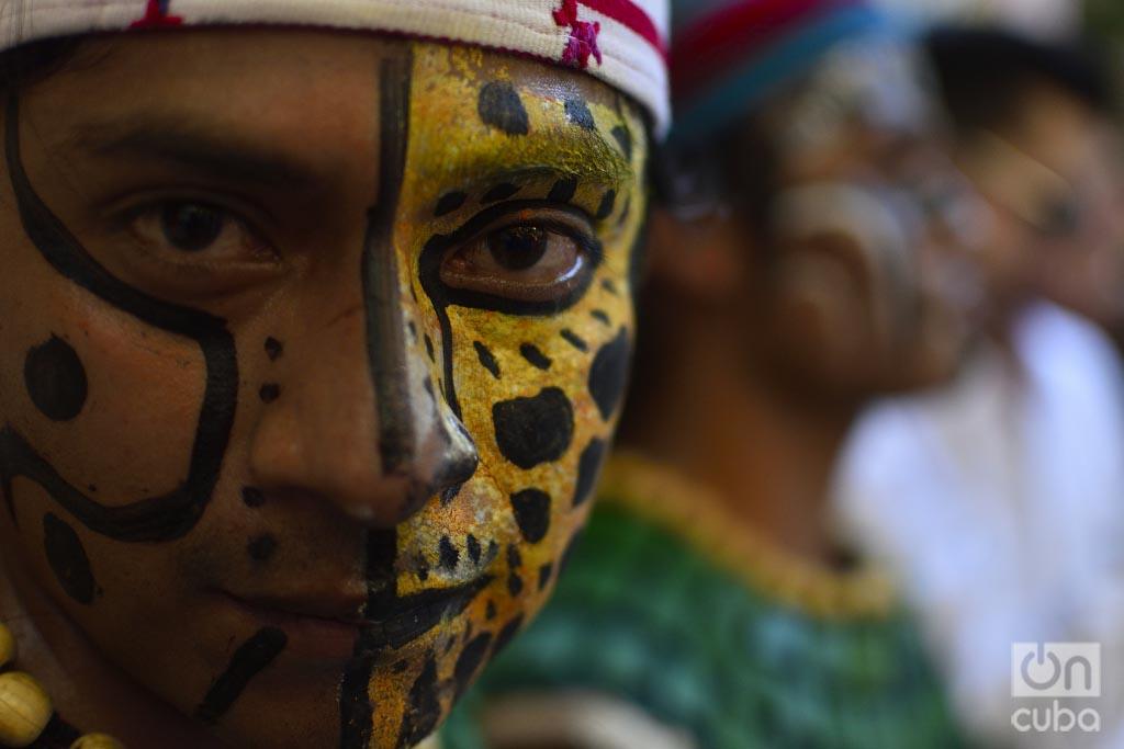 Jugador de Pelota Maya durante un partido celebrado en La Habana. Foto: Otmaro Rodríguez.