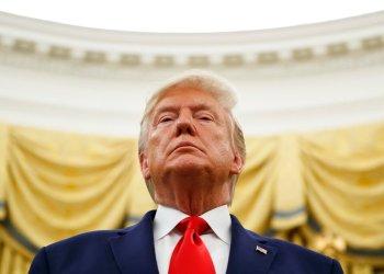 Esta foto de archivo del 24 de octubre del 2019 muestra al presidente Donald Trump durante una ceremonia en la Oficina Oval de la Casa Blanca en Washington. Foto: Alex Brandon/AP
