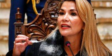 Imagen de archivo de la presidenta interina de Bolivia, Jeanine Áñezdel 15 de noviembre de 2019. Foto: Natacha Pisarenko/AP