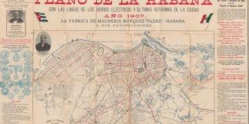 Mapa de La Habana de 1907. Foto: news.miami.edu/