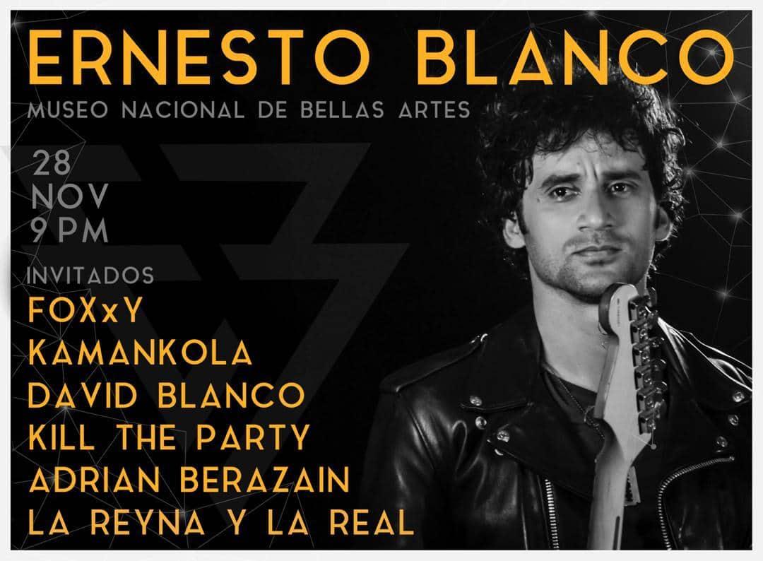 Poster concierto de Ernesto Blanco en Bellas Artes. Foto: Cortesía del artista
