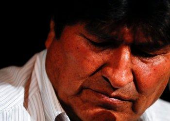El expresidente de Bolivia, Evo Morales, en una conferencia de prensa en Buenos Aires, Argentina, el martes 17 de diciembre de 2019. Foto: Natacha Pisarenko / AP.
