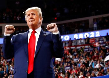 El presidente Donald Trump en un mitin de campaña, el martes 10 de diciembre de 2019, en Hershey, Pensilvania. Foto: Patrick Semansky / AP.