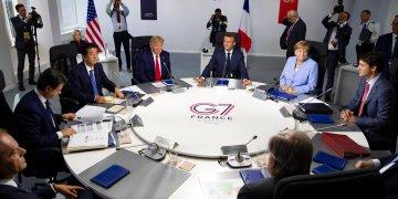 Foto tomada el 26 de agosto del 2019 de los líderes del G7 en una cumbre en Biarritz, Francia. Foto: Ian Langsdon, Pool vía AP / Archivo.