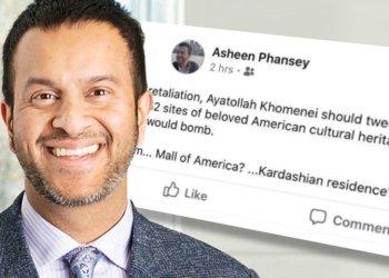 El profesor Phansey y su publicación en Facebook.