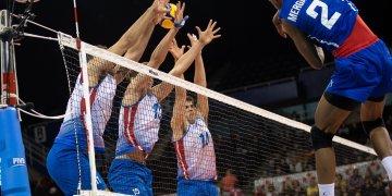 Cuba derrotó 3-0 a Puerto Rico en el Preolímpico de voleibol en Vancouver, Canadá. Foto: @NorcecaInfo/Twitter