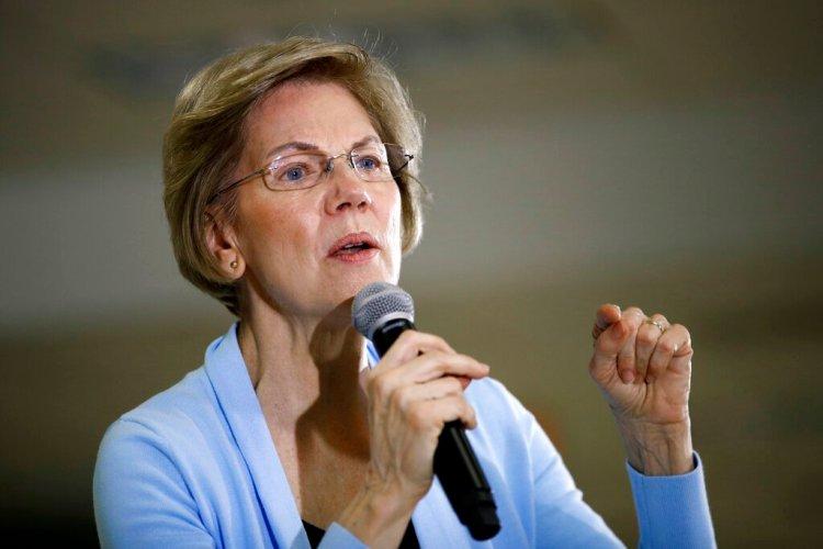 La senadora Elizabeth Warren, aspirante a la candidatura presidencial demócrata, habla en un acto de campaña en Grimes, Iowa, 20 de enero de 2020. Foto: Patrick Semansky / AP.