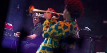 """Concierto del proyecto """"El Comité"""", en el Teatro Martí de La Habana, durante el 35 Festival Jazz Plaza, el 19 de enero de 2020. Foto: Enrique Smith."""