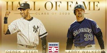 Dereck Jeter y Larry Walker son nuevos miembros del Salón de la Fama de Cooperstown. Foto: Tomada del Twitter de MLB.