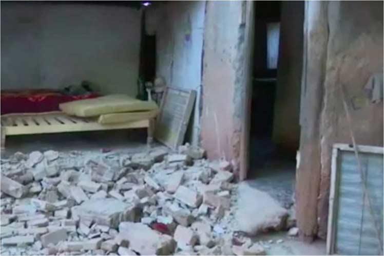 Daños en una vivienda en la provincia cubana de Granma, tras el terremoto del pasado 28 de enero de 2020. Foto: Prensa Latina.