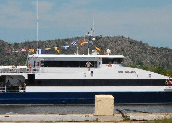 Los turistas fueron llevados desde Cayo Largo hasta el puerto de Batabanó en el ferry Río Júcaro. Foto: periodicovictoria.cu