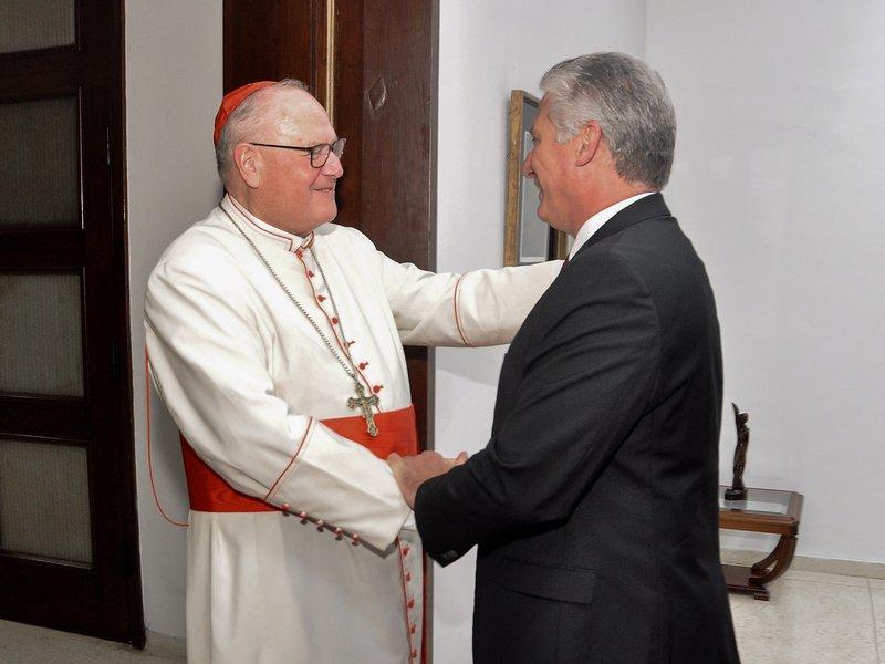 Sostuvo Díaz-Canel encuentro con el Arzobispo de Nueva York