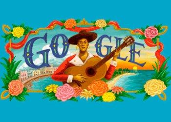 Google rinde homenaje a la trovadora cubana María Teresa Vera, en el aniversario 125 de su nacimiento el 6 de febrero de 1895. Infografía: Google