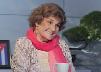 """La actriz Nilda Collado (1940-2020). Foto: Tomada del programa """"Con Dos Que Se Quieran""""."""