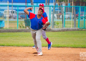 Yeison Acosta fue uno de los héroes en la victoria de Bayamo en las Pequeñas Ligas de Cuba. Foto: Otmaro Rodríguez.