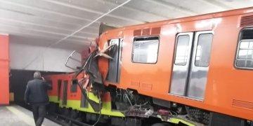 Accidente de trenes subterráneos en la noche del martes 10. Foto del Twitter de: SUUMA Voluntarios.