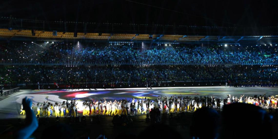 Ceremonia inaugural de los juegos en Barranquilla, Colombia, 2018. Foto: Antena 2.