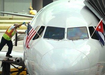 Un avión estadounidense en el aeropuerto de La Habana el año pasado. | Getty (Archivo)