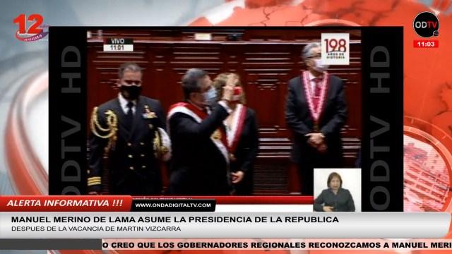 Manuel Merino juró como presidente de la República