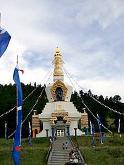 Gran Estupa de Dharmakaya que libera al verla