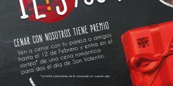 Celebra San Valentín con una cena romántica en Gastrobar L'envers