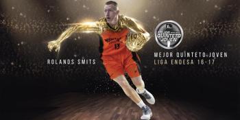 Smits es elegido en el Mejor Quinteto Joven de la Liga Endesa
