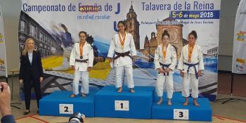 Amanda Sánz se proclama Campeona de España infantil de judo