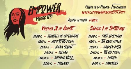 Más de 4.000 personas asistirán desde hoy al Empower Music Fest en La Pollina