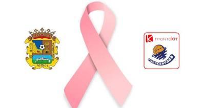 Los equipos de Fuenlabrada se suman al Día Contra el Cáncer de Mama
