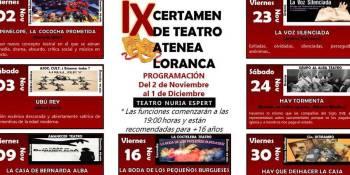 IX Certamen de Teatro Atenea en el Teatro Nuria Espert