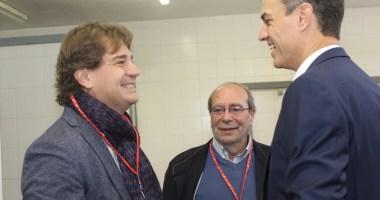 El Presidente del Gobierno y Secretario General del PSOE, Pedro Sánchez hoy en Fuenlabrada