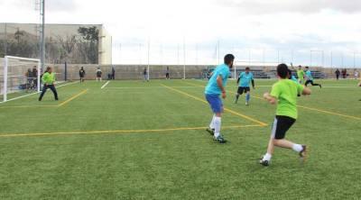 Nuevo campo de fútbol en el barrio de Loranca