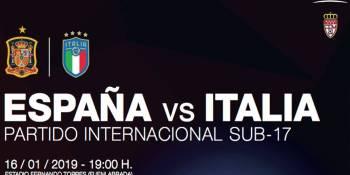 La Selección Española Sub-17 aterriza en el Estadio Fernando Torres