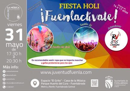 Vuelve la Fiesta Holi Fuenlactívate y comienza el proyecto encart@dos
