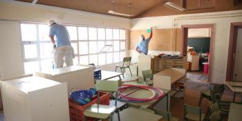 Continúan las obras de mejora en los colegios de Fuenlabrada