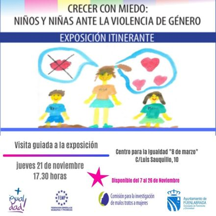 Exposición de dibujos realizados por menores víctimas de violencia de género