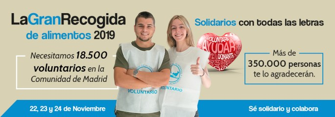 El Banco de alimentos de Madrid necesita 6.000 voluntarios