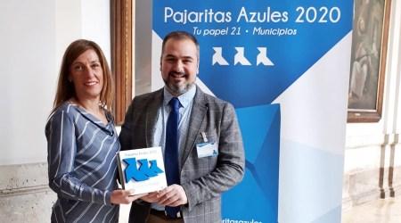 Fuenlabrada recibe las tres Pajaritas Azules por su trabajo en el reciclado de papel