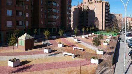 Obras de mejora en dos plazas de las calles Castilla la Nueva y Comunidad de Madrid