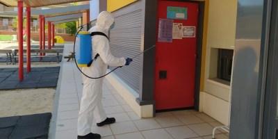 Refuerzo de limpieza y desinfección en centros públicos y comercios