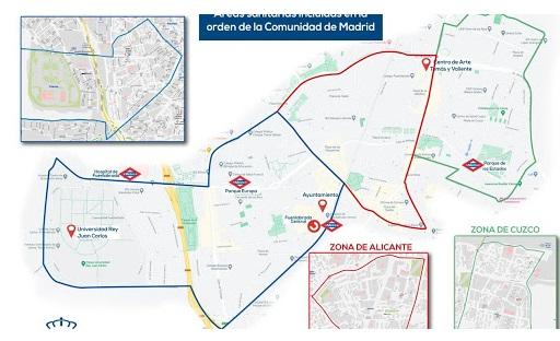 Restricción de movilidad en tres áreas de Fuenlabrada