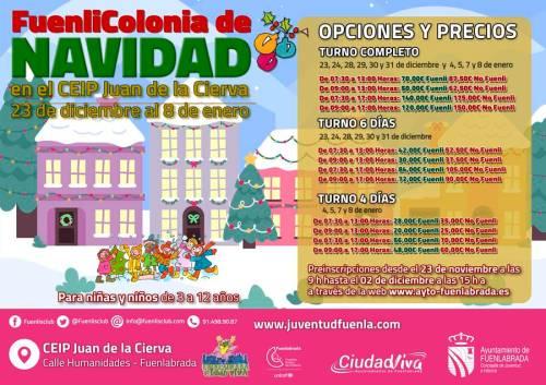 Ya está abierta la preinscripción para las Fuenlicolonias de Navidad
