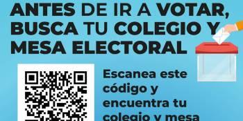 Habilitado un buscador para consultar colegio y mesa donde votar