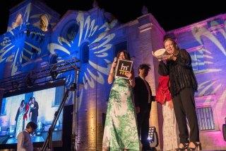 Cinzia Malvini ritira Premio Moda Speciale per Maison Capucci ph. Enzo Dell'Atti