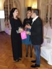 Michele Miglionico con la consorte dell'Ambasciatore Alessandra Lo Cascio e la cantante lirica Jadranka Jovanovic