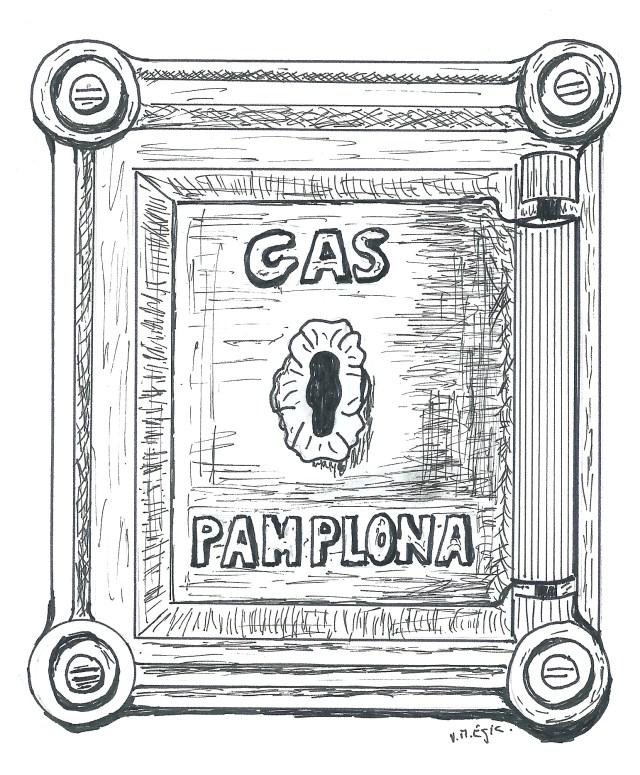 Fig. 5 Dibujo de una tapa de registro de una vivienda de Iruñea