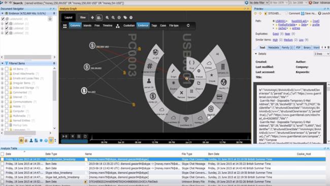 Nuix 7 captura de pantalla