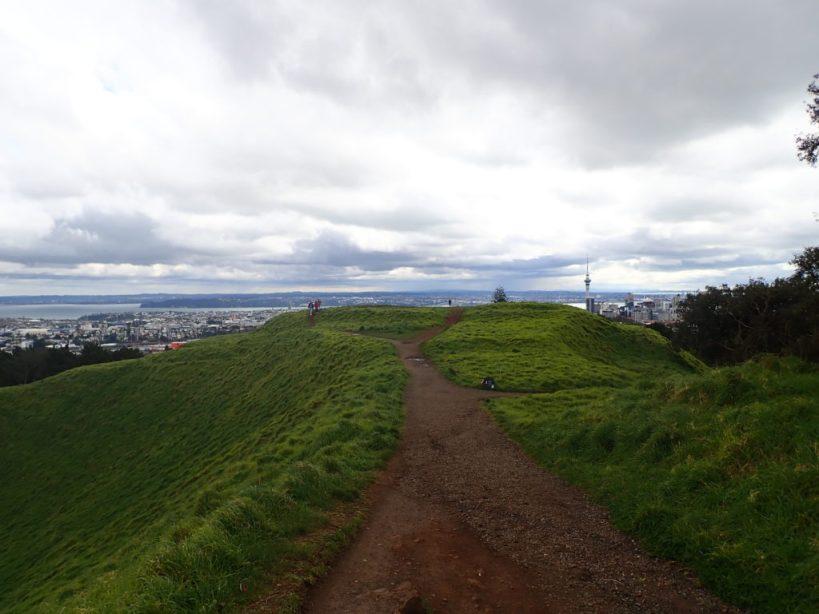 vue sur le cbd auckland depuis le mont eden